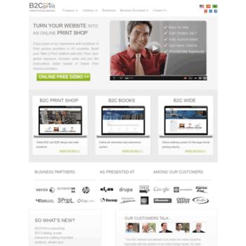 b2cprint com at WI  B2C Print | Innovative Printing