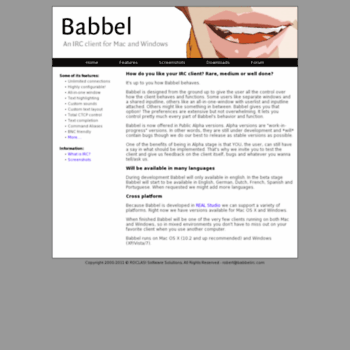 babbelirc com at WI  Babbel - An IRC client for Mac and Windows