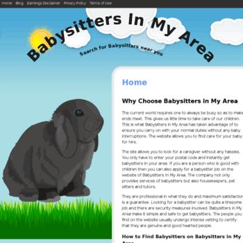 Babysittersinmyarea.info thumbnail