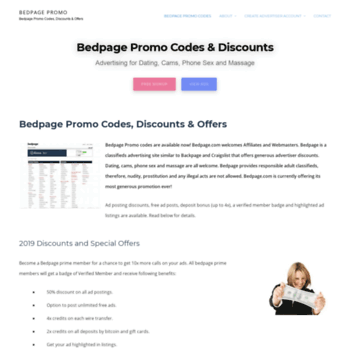 Backpage promo code