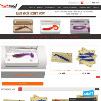 baitmold com at WI  High-quality molds for bait fish from