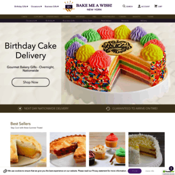 bakemeawish com at WI  Birthday Cakes Delivered | Bakery