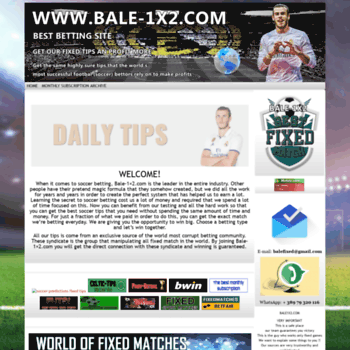 bale-1x2 com at WI  Fixed Matches betting soccer predictions HT-FT