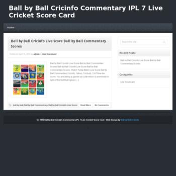 ballbyballcricinfo info at WI  Ball by Ball Cricinfo