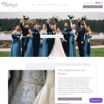 55de5f82a15a2 bangorbridal.com at WI. Welcome to The Henry's Bridal Boutique ...