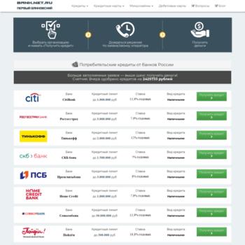 Веб сайт bank.net.ru