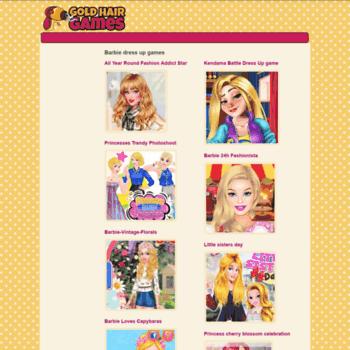 Barbie-dressup.goldhairgames.com thumbnail