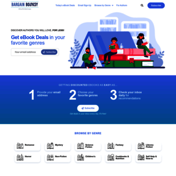 bargainbooksy com at WI  Bargain Booksy - Deals on Bestselling Ebooks