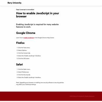 Barry.edu thumbnail