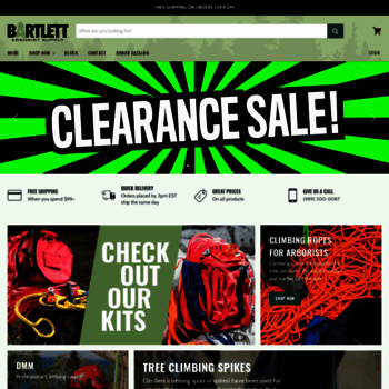 bartlettman com at WI  Arborist Supplies | Tree Climbing Gear | Bartlett