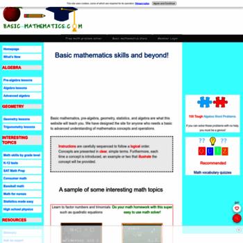 Basic-mathematics.com thumbnail