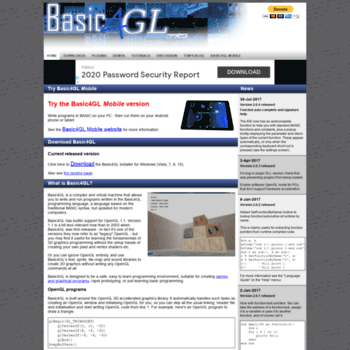 Basic4gl.net thumbnail