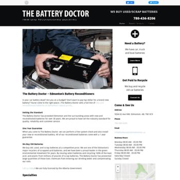 Batterydoctoredmonton.ca thumbnail