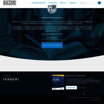 Веб сайт batteryuniversity.com