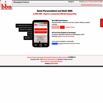 bbnsms com at WI  Bulk SMS Gateway, API and Website for