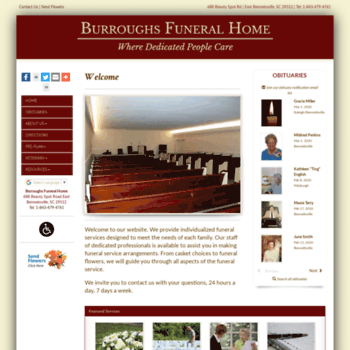 burroughs funeral home sc