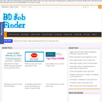Bdjobfinder.org thumbnail