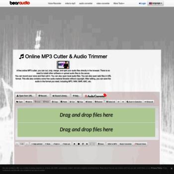 bearaudiotool com at WI  MP3 Cutter, Ringtone Maker - Online Edit