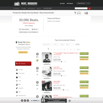 beatbrokerz com at WI  Beat Brokerz - Hip Hop Instrumentals
