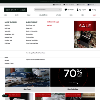 bedbathntable com au at WI  Bed Linen & Homewares Online & In-Store