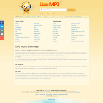 Beemp3s.org thumbnail