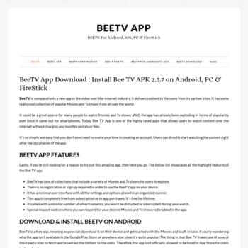 beetvapp com at WI  BeeTV 2 2 4 : Download Bee TV APK on
