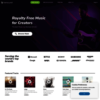 bensound com at WI  Royalty Free Music by Bensound | Stock Music