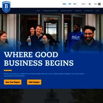 Bentley.edu thumbnail