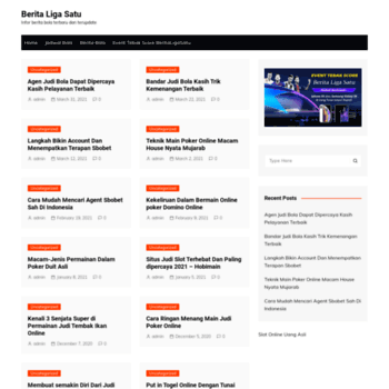 Веб сайт beritaligasatu.com