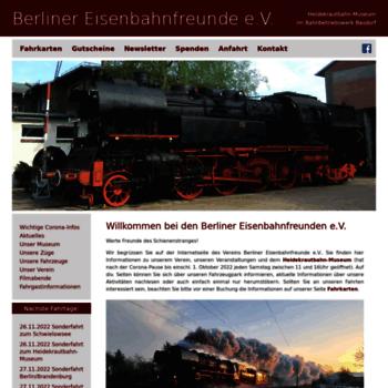 Berliner Eisenbahnfreundede At Wi Berliner Eisenbahnfreunde E V
