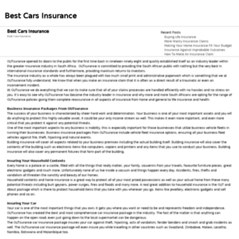 Bestcarsinsurance.co.za thumbnail