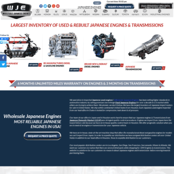 bestjapaneseengines com at WI  Japanese Engines | Used Japanese