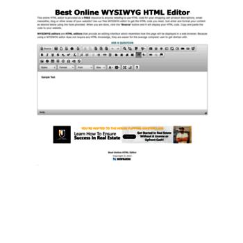 bestonlinehtmleditor com at WI  BEST ONLINE HTML EDITOR | Best Free