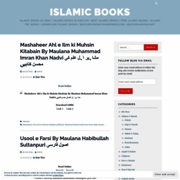 besturdubooks wordpress com at WI  Islamic Books | islamic books in