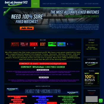bet-at-home1x2 com at WI  FIXED MATCHES 100% SURE - BET AT