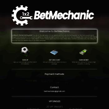 betmechanic com at WI  BetMechanic - 100% sure betting tips