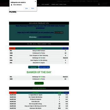 bettingvoice com at WI  BettingVoice: Free Acurate Football