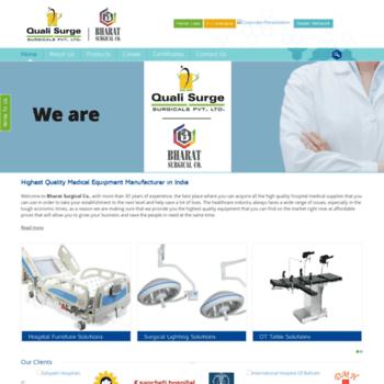 bharatsurgical com at WI  Medical Equipment | Hospital