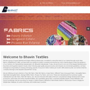Bhavintextiles.net thumbnail