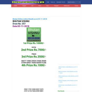 Bhutan.resultslottery.win thumbnail