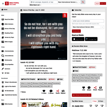 bibleportal com at WI  Bible Verse, Bible Keyword Search, Bible