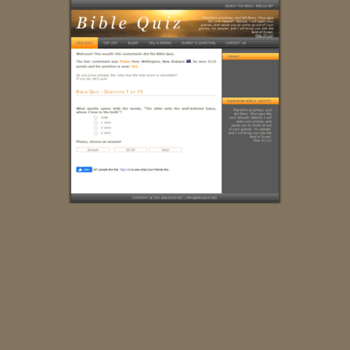 biblequiz biz at WI  Bible Quiz - How well do you know the bible