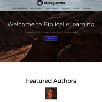 Biblicalelearning.org thumbnail