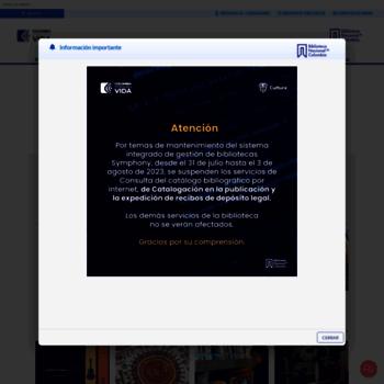 Bibliotecanacional.gov.co thumbnail