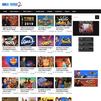 biggboss2 com at WI  BiggBoss2 net - Tamil TV Shows and