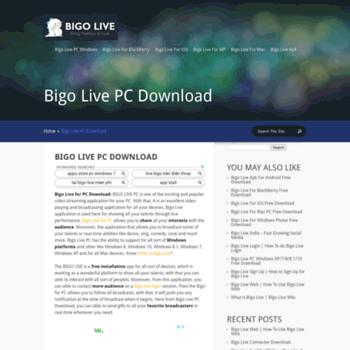 download bigo live pc windows xp