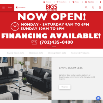 Bigsonline Com At Wi Big S Furniture Store Las Vegas Nv Lowest