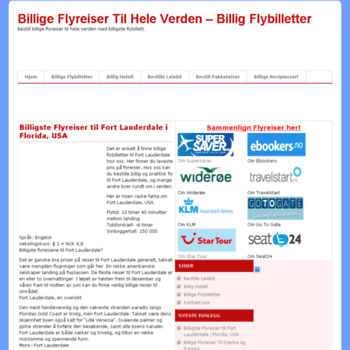 Billige-flyreiser.net thumbnail