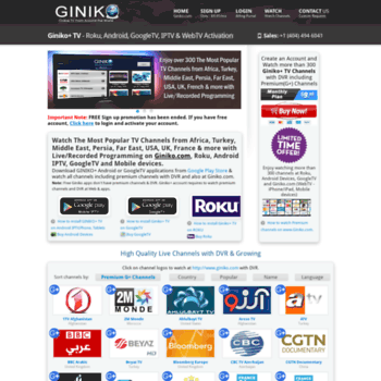 billing giniko com at WI  Giniko+ TV Activation Portal - Roku
