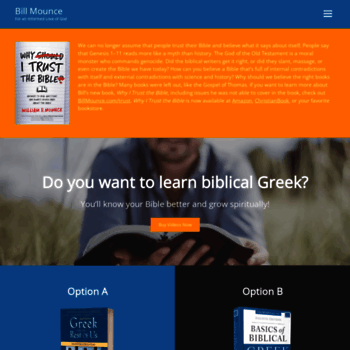 billmounce com at WI  Free resources from Bill Mounce to learn
